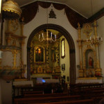 01-Foto antiga da Capela do Senhor de Além (o interior)