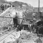 Mina-Construção da via férrea