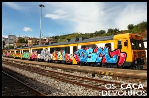 3-Estação da Régua - Carruagem grafitada(cd)